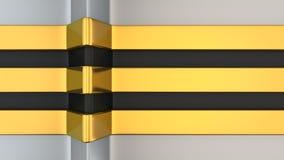 Gold and black stripe Stock Photos