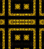 Gold and black textured background Royalty Free Stock Photos