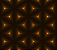 Gold & black triangle polygon seamless background Royalty Free Stock Images