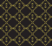 Gold Black Vintage Pattern Stock Photography