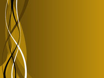 Gold and Black Waves Royalty Free Stock Photography