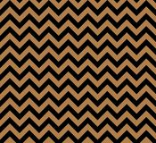 Gold and black Zig zag seamless vector pattern royalty free illustration