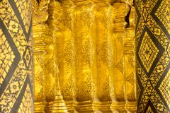Gold blackground in the thai temple art Royalty Free Stock Photos