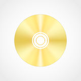 Gold blank compact disc Royalty Free Stock Photos