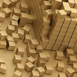 Gold blocks Stock Photography