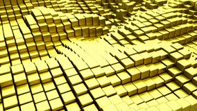 Gold blocks abstract 3D render. Gold blocks. Abstract 3D rendering vector illustration