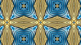 Gold and blue abstract background for the design of textiles, th Royalty Free Stock Photo
