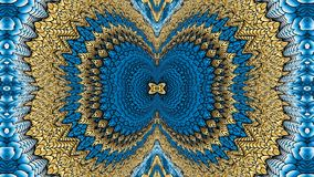 Gold and blue abstract background for the design of textiles, th Stock Image