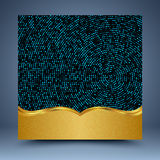 Gold and blue geometric abstract background. For website, banner, business card, invitation, postcard Stock Photo