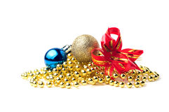 Gold and blue balls Stock Images