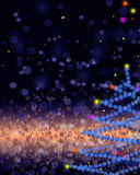 Gold and blue elegant christmas background with place for new ye Royalty Free Stock Images