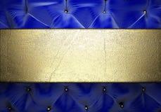 Gold on fabric background Stock Photo