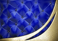Gold on fabric background Royalty Free Stock Photo