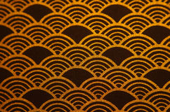 Gold and blue fabric Stock Image