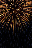 Gold and blue firework Royalty Free Stock Photos
