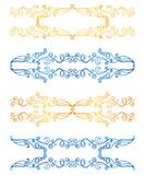 Gold and blue frames on white Royalty Free Stock Photography