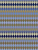 Gold Blue Metallic Harlequin background wallpaper. A background of metallic gold and gradient blue harlequin design for use in website wallpaper design stock illustration