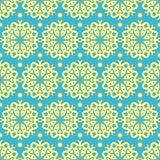 Gold and blue pattern Royalty Free Stock Image