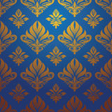 Gold blue pattern vector Stock Photography