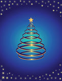 Gold and blue pine vector illustration