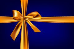 Gold_and_blue_ribbon Obraz Stock