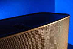 Gold and Blue Speaker Royalty Free Stock Photo