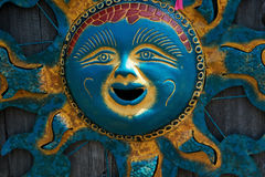 The Gold and Blue Sun Stock Photo