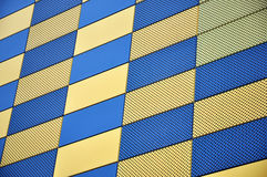 Gold and blue wall Stock Images