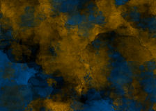Gold And Blue Watercolor Style Marble Abstract Background Royalty Free Stock Photo