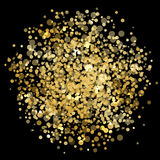 Gold blur. Vector gold blur - black background Royalty Free Stock Image