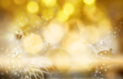 Gold blurred Christmas background Stock Image