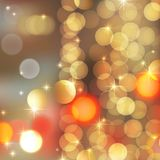 Gold blurred lights Royalty Free Stock Photography