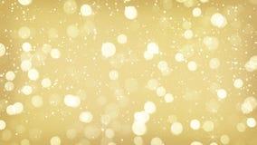 Gold blurred lights festive background Stock Photo