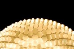 Gold blurred semi sphere Stock Photos