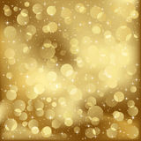 Gold blurry lights Stock Image