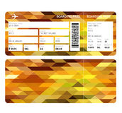 Gold boarding pass Royalty Free Stock Photos