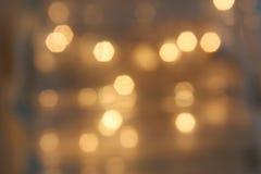 Gold Bokeh Lizenzfreie Stockbilder