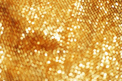 Gold bokeh abstract light background Royalty Free Stock Photos