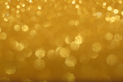 Gold bokeh background Royalty Free Stock Photography
