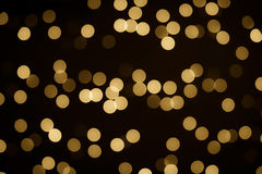 Gold Bokeh background Stock Photography