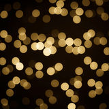 Gold Bokeh background Stock Image