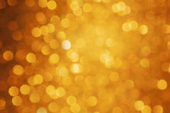 Gold Bokeh background. Selective focused Stock Photo