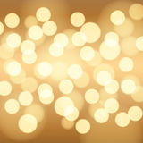 Gold bokeh background. Royalty Free Stock Images