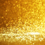 Gold bokeh background Stock Photos