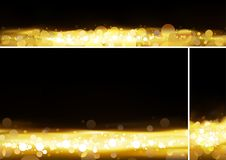 Gold Bokeh Banner Collection Royalty Free Stock Photo