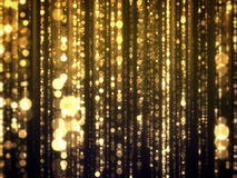 Gold Bokeh Falling Glamour Abstract Background.  Royalty Free Stock Images