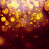 Gold bokeh Festive Christmas background Royalty Free Stock Images