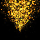 Gold bokeh glittering abstract Stock Images
