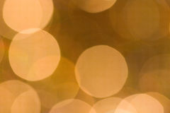 Gold Bokeh. Large gold blurred light bokeh background Royalty Free Stock Photos