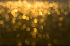 Gold bokeh lights stock photo